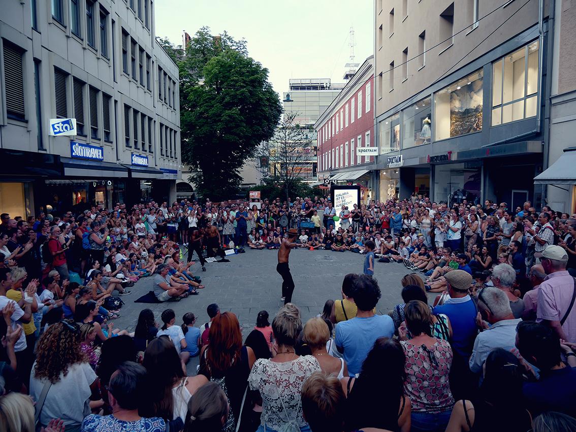 Spectacle acrobatie à Linz